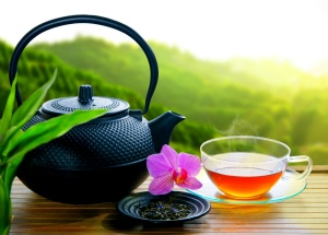 Teegenuss im Teeanbaugebiet